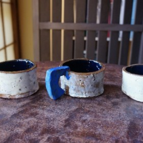 青いCハンドル 100mlマグカップS