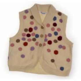 【ファミリア/familiar】ベビーベスト 80サイズ 女の子【USED子供服・ベビー服】(188173)