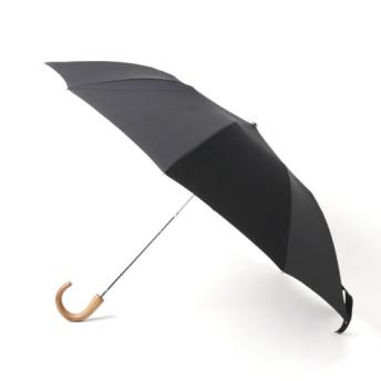 FOX UMBRELLAS 折りたたみ傘 Telescopic Umbrella Maple Solid Colur ブラック/FREE(エストネーション)◆メンズ 折りたたみ傘