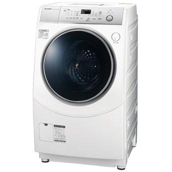 シャープ 10kgドラム式洗濯乾燥機 ES-H10C-WL 左開き