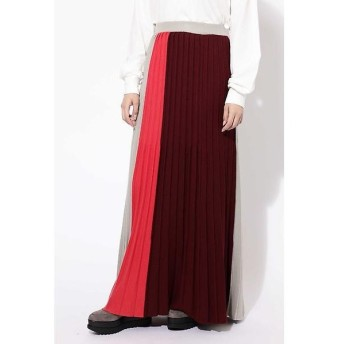 ROSE BUD / ローズ バッド プリーツロングニットスカート
