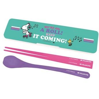 箸&スプーンセット コンビセット スヌーピー BEAT キャラクター ( お弁当用 セット 日本製 )