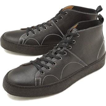 FRED PERRY フレッドペリー × ジョージコックス クレッパー ミッド レザー スニーカー 靴 メンズ・レディース BLACK B8289-102 FW18