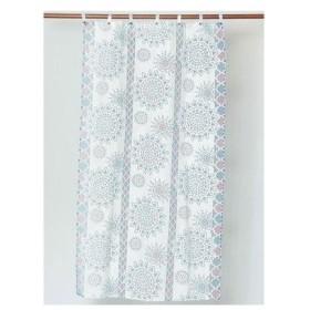 【チャイハネ】オパール加工マンダラグラスカーテン 約178cm ブルー