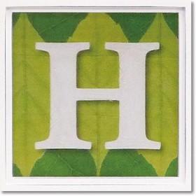 ユーパワー アルファベット アートフレーム グリーン H AL-01202-H