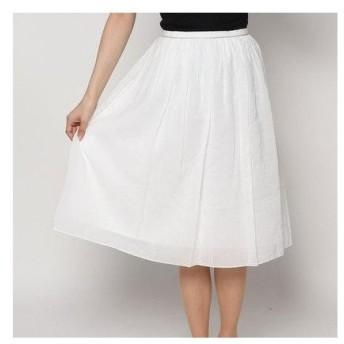 アンタイトル UNTITLED outlet フレアースカート (ホワイト)