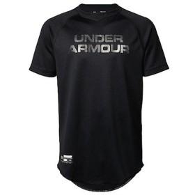 (セール)UNDER ARMOUR(アンダーアーマー)野球 ジュニア半袖Tシャツ 18F UA SOLID BB SHIRT 1319777 001 ボーイズ BLK
