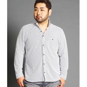 ハイダウェイニコル <大きいサイズ>イタリアンカラー長袖カッ メンズ 09ホワイト 54(4L) 【HIDEAWAYS NICOLE】