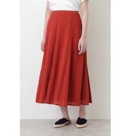 HUMAN WOMAN / ヒューマンウーマン ◆楊柳ストライプマチスカート