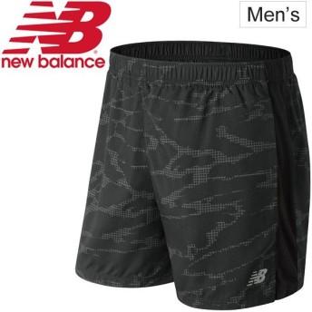 ランニングパンツ メンズ ニューバランス new balance アクセレレイト グラフィック 5インチショーツ インナー付き/男性用 ジョギング/MS83179