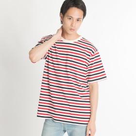 Tシャツ - WEGO【MEN】 サイドスリットボーダーTシャツ BS18SM05-M003