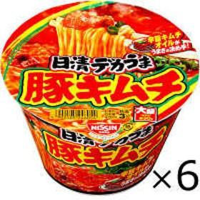 日清食品 日清デカうま 豚キムチ 6食