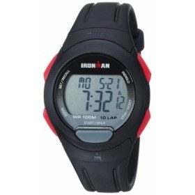 【当店1年保証】タイメックスTimex Men's TW5M16400 Ironman Essential 10 Black/Red Resin Strap Wat