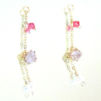 Love rose quartz & pearl -k10-