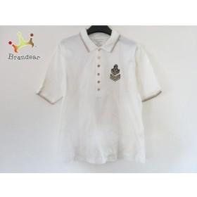 バレンザポースポーツ 半袖ポロシャツ サイズM メンズ 美品 アイボリー×ゴールド       スペシャル特価 20190702