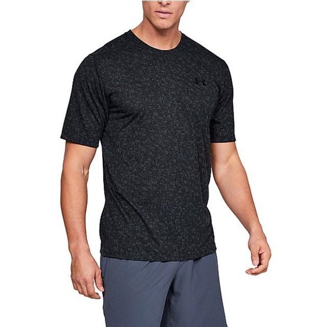 (セール)UNDER ARMOUR(アンダーアーマー)メンズスポーツウェア 半袖機能Tシャツ UA Threadborne Print SS 1321930 002 メンズ BLK/BLK