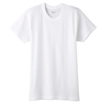 グンゼ快適工房半袖丸首 (メンズ) ホワイト