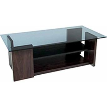 テーブル 合成樹脂化粧合板 8mmグレー強化ガラス W100×D50×H34 azmy-so-100br