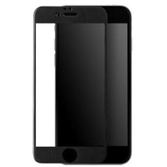 【メール便送料無料】 HANATORA iPhone 6/iPhone6s 4.7インチ カーボンファイバーフレーム 3D強化液晶ガラスフィルム 5色展開