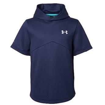 (セール)UNDER ARMOUR(アンダーアーマー)野球 ジュニア半袖Tシャツ 18F UA 9 STRONG Y AS SS HOODY 1319759 410 ボーイズ MDN