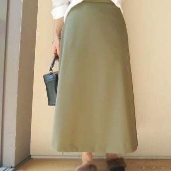 Limitless Luxury マイクロAラインロングスカート◆ カーキ 36