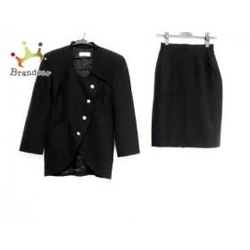 ユキサブロウワタナベ スカートスーツ サイズ9 M レディース 美品 黒                 スペシャル特価 20190710