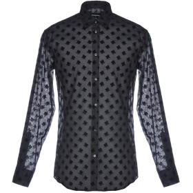 《セール開催中》DSQUARED2 メンズ シャツ ブラック 50 コットン 50% / シルク 50%