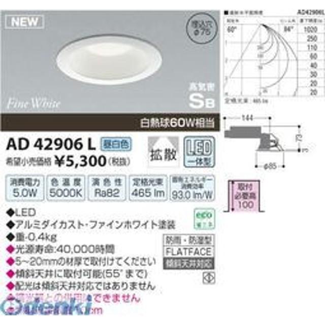 コイズミ照明 [AD42906L] LED防雨防湿ダウン