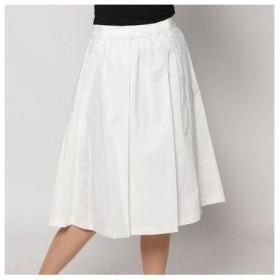 アンタイトル UNTITLED outlet ストレッチプリーツスカート (ホワイト)