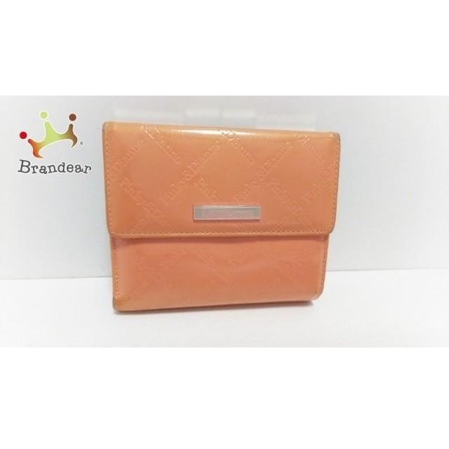 011ad866deb6 ピンキー&ダイアン Pinky&Dianne 3つ折り財布 オレンジ 型押し加工 エナメル(