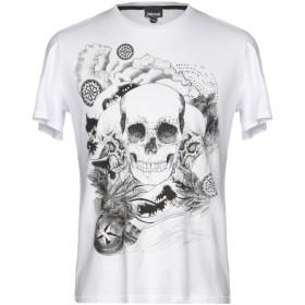 《期間限定セール開催中!》JUST CAVALLI メンズ T シャツ ホワイト S 100% コットン
