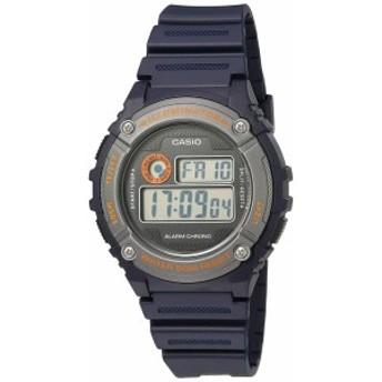 【当店1年保証】カシオCasio Men's 'Illuminator' Quartz Resin Watch, Color:Blue (Model: W-216H-2BVCF