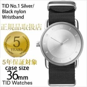 ティッドウォッチズ 腕時計 メンズ レディース 男女兼用 TID watches シルバー/TID01-SV36-NBK