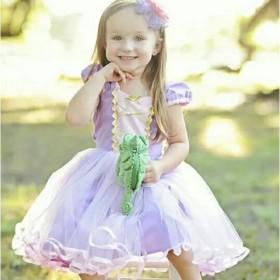 送料無料 セール キッズ コスプレ ラプンツェルドレス プリンセスドレス ワンピ ワンピース 可愛い ディズニー 子供服