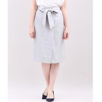 CLEAR IMPRESSION / クリアインプレッション 《WEB限定大きいサイズ》ラップ風リボンベルトスカート