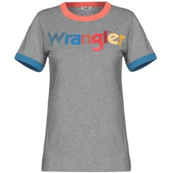 《9/20まで! 限定セール開催中》WRANGLER レディース T シャツ グレー XS コットン 100%