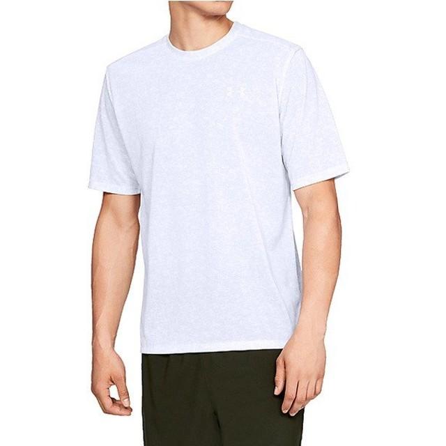 (セール)UNDER ARMOUR(アンダーアーマー)メンズスポーツウェア 半袖機能Tシャツ UA Threadborne Print SS 1321930 100 メンズ WHT/ELE