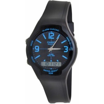 【当店1年保証】カシオCasio Men's AW90H-2BV Black Resin Quartz Watch with Black Dial