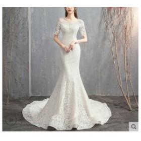 レディース ドレス ウェディングドレス プリンセスライン 結婚式 花嫁 ロングドレス 披露宴