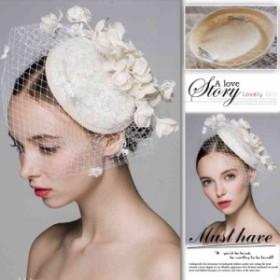 a6f51901488ef ウェディングハット ブライダル ヘアアクセサリー 髪飾り 帽子ヘッドドレス 安い パーティーハット ウエディングハット 結婚