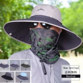 2018新作 つば広帽子 UVカットハット メッシュ メンズ レディース キャップ 折りたたみ ベール付き 紫外線対策 日焼け止め 送料無料