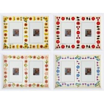 取寄品 デザイナーズ 写真立て 木製フォトフレーム 2ウィンドウ ホワイト ギフト雑貨グッズ