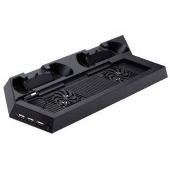PS4対応 冷却ファンベース + 2コントローラー充電ドックステーション