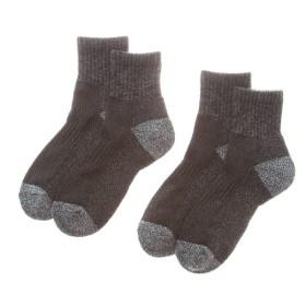 メンズ 紳士靴下 ワーク2足組 丈夫 足底クッションパイル編み ショート丈
