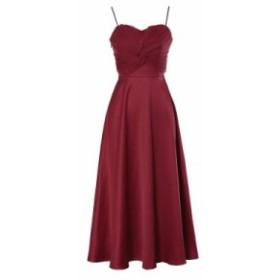 【送料無料】Aライン ワンピース キャミワンピ 無地 シンプル ワンカラー エレガント 大きいサイズ ドレス 結婚式 お呼ばれ 5l BTBA940
