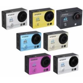 2インチ液晶画面 170°ワイドアングル 30m防水 4K ウルトラHD Wi-Fi アクションスポーツカメラ リモ