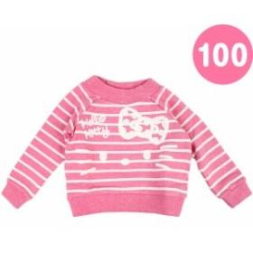 ハローキティ 裏毛トレーナー 100cm ピンク☆サンリオ キッズ秋冬ファッションシリーズ★クロネコDM便OK
