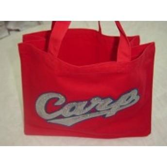 カープスクエアートートスパンコールバッグ(赤・ピンク)