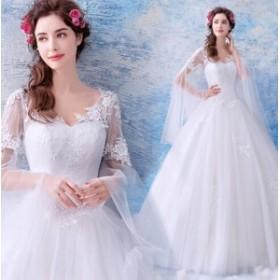 ウエディングドレス ロングドレス パーティー 二次会 結婚式 披露宴 司会者 舞台衣装 花嫁 写真撮影