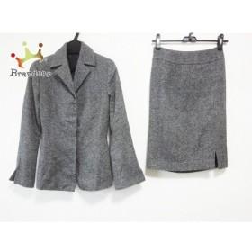 ノーベスパジオ NOVESPAZIO スカートスーツ サイズ38 M レディース ダークグレー ラメ     スペシャル特価 20190427